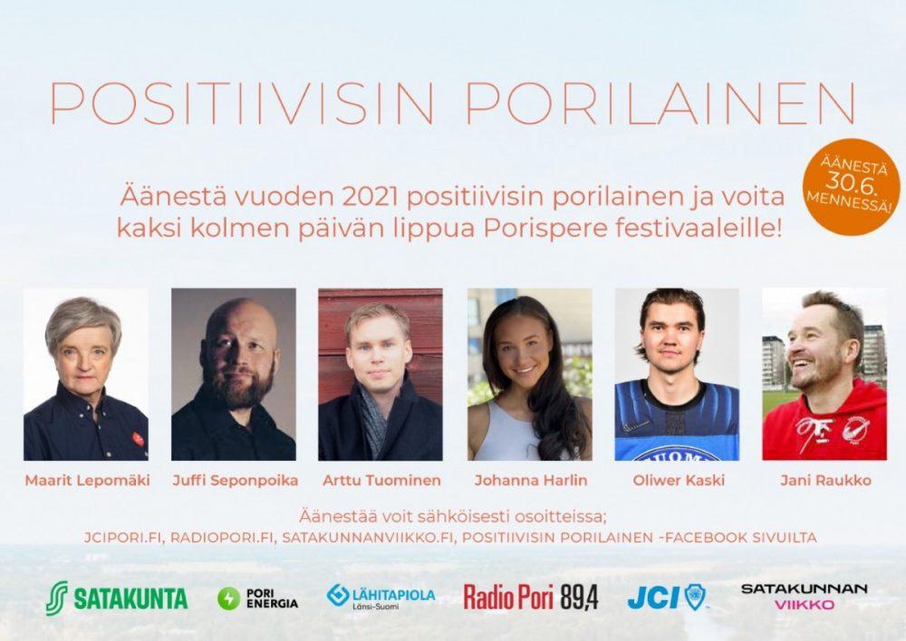 Äänestä Positiivisinta Porilaista vuodelle 2021!